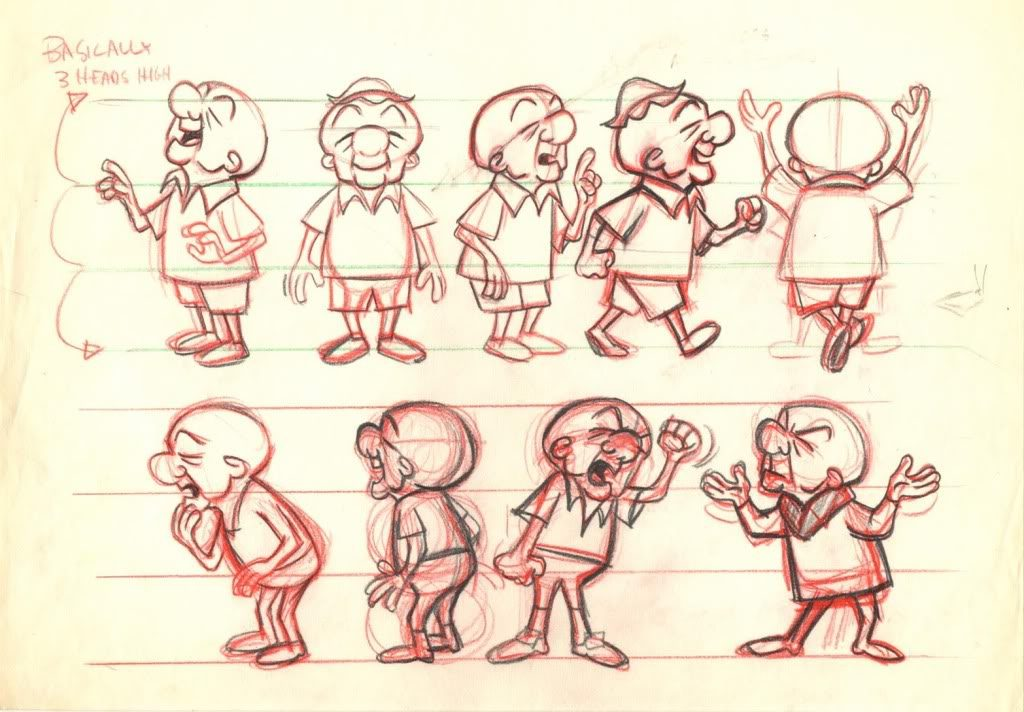 Hoja modelo animación